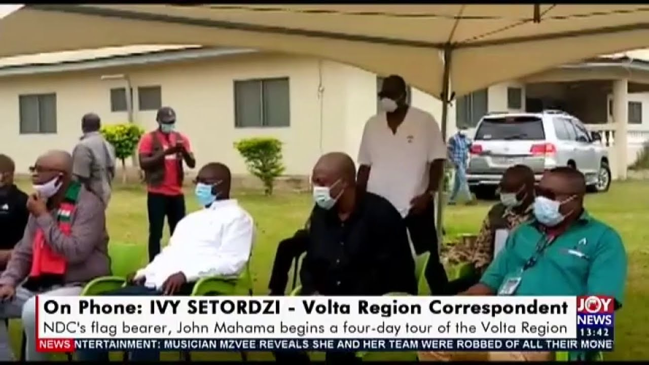 Election 2020: NDC's flag bearer, John Mahama begins a four-day tour of the Volta Region (17-8-20)