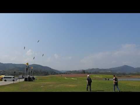 International Balloon Fiesta 2017 : Stunt Kites by Siamese Cats : 16 February 2017