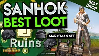 BEST LOOT & DROP LOCATION ON SANHOK - PUBG Mobile New Map Tips