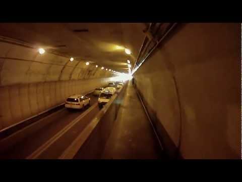 Cycling through Mt Vic Tunnel - Wellington NZ