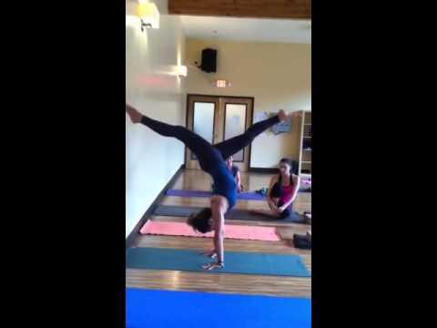 split leg handstand  youtube