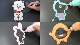 BT21 Pancake Art Compilation - RJ, Mang, Cooky, Shooky