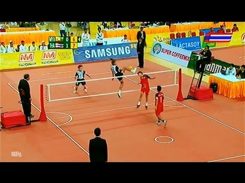 Myanmar - Thailand SepakTakraw 27th SEA Games 2013 -Women's Doubles Team B