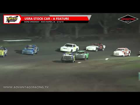 Stock Car Feature - Rapid Speedway - 6/14/19