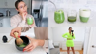 VLOG - Favorite Matcha Drinks, Products & Mini Try On!