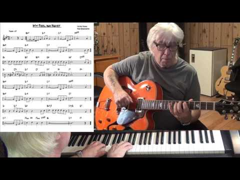 My Foolish Heart - Jazz guitar & piano cover ( Victor Young & Ned Washington )