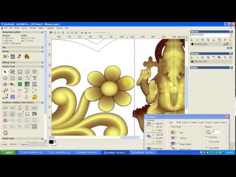 ARTCAM 3D new Creating design video top PART 2