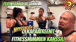 NYYSSIKSEN OLKAPÄÄTREENIT FITNESSMIMMIEN KANSSA - FT. HANNA JA JANNI