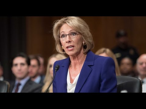 Lunatic Trump Secy of Education DESTROYED At Confirmation Hearing
