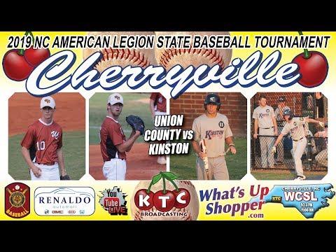 Kinston Vs Union County - NC American Legion Baseball Tournament
