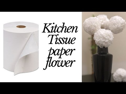 DIY tissue paper flower / easy paper flower / paper flower making / DIY paper craft ideas