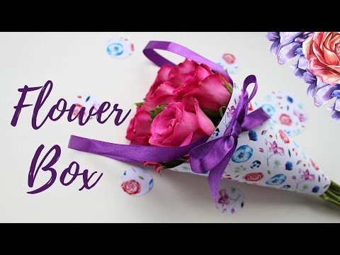 Diy flower box своими руками, кулек для цветов / Упаковка для цветов