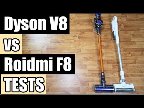 Dyson V8 Absolute Vs Roidmi F8 Storm Cordless Vacuum Tests and Review