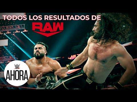 WWE Raw Todos Los Resultados: WWE Ahora, Nov 19, 2019