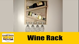 Pallet wood Rustic Wine Rack - Wacky Wood Works