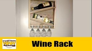 Pallet Wood Rustic Wine Rack