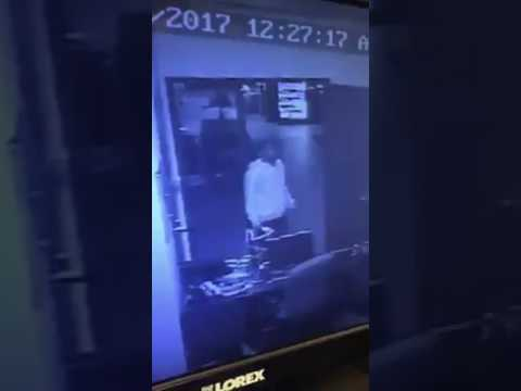 VIDEO: Man seen breaking into Shaw's Center in Brockton