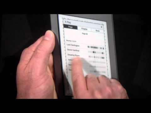 Amazon CEO Jeff Bezos Shows Off Kindle Touch and New X-Ray Feature