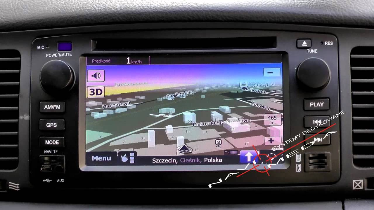 Navi Media Toyota Corolla 2001 2007 E12 Youtube