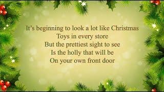Michael Buble - It's Beginning to Look a Lot Like Christmas (lyrics)
