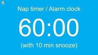60 min Nap timer / Alarm clock (with 10 min snooze)
