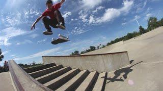 10 Skate Tricks Down 7 Stairs CHALLENGE!