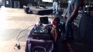 Dj Arch Jnr at the Go West Music Fest 2015