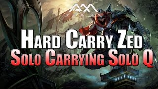 Hard Carry Zed - Solo Carrying Solo Queue - League of Legends