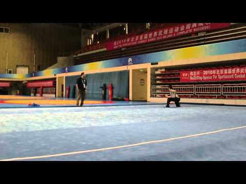 Sport Accord Combat Games Warm Up Carpet  Alfred Hsing, Team USA