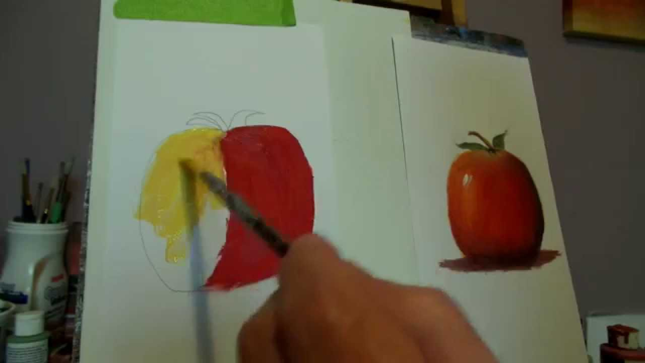 How To Paint Fruit With Acrylics