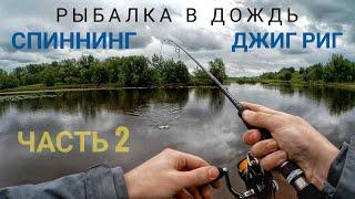 Рыбалка в дождь. Спиннинг. Джиг риг. Часть 2