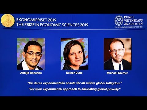 Pioneers in fight against poverty win 2019 Nobel economics prize