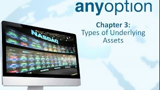 Lesson 3 - Types of Underlying Assets