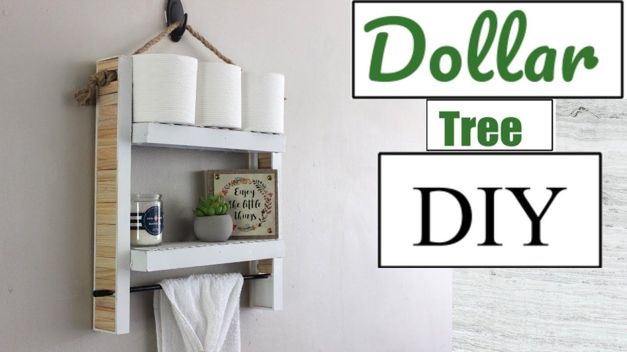 Dollar Tree Diy Hanging Bathroom Shelf Bathroom Decor 2018 Youtube