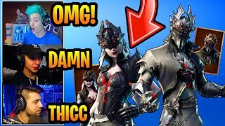 STREAMERS React to *NEW* ARACHNE and SPIDER KNIGHT SKINS!! (LEGENDARY) Fortnite FUNNY & EPIC Moments