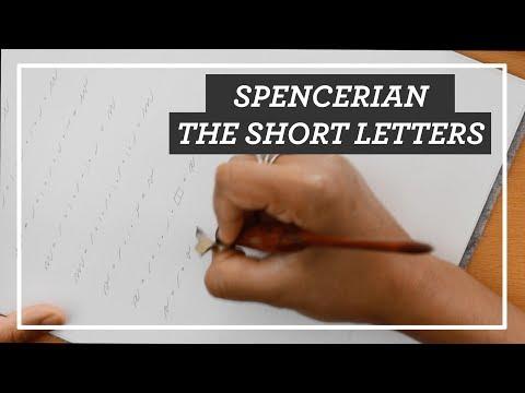 Spencerian Short Letters || TUTORIAL