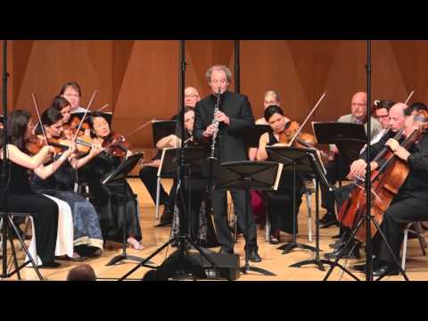 MOZART Clarinet Concerto - Mvt 2 – ChamberFest Cleveland (2015)
