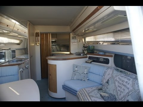 Carver Santego Boat Interior Video by South Mountain Yachts (949) 842-2344