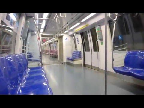 Singapore - Circle Line Train from Nicholl Highway MRT to Promenade MRT HD (2015)