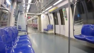 Singapore - Circle Line Train from Nicholl Highway MRT to Promenade MRT HD (2015)