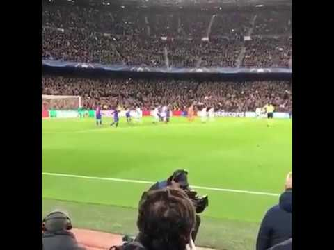 Gol de Sergi Roberto desde la grada/tribuna | Barcelona 6 - 1 PSG REMONTADA