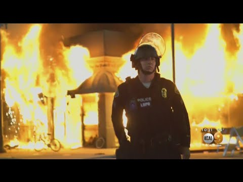 Video Shows Moment 2 Men Toss Beer Bottles Into Buildings, Igniting Fires In Long Beach