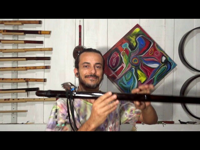 Flauta NAF Negra Escala Penta Yo C (432Hz)