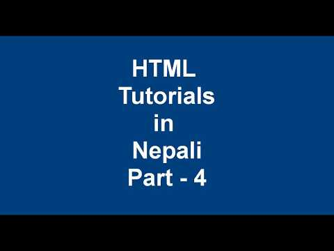 Complete HTML tutorial in Nepali part - 4 || heading, aside, br tags thumbnail