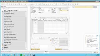 WMS - AP فاتورة الاحتياطي SAP Business One