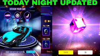 Today Night Updated Free Car Legendary Skin Magic Cube 30%Off in free fire Store Gaming