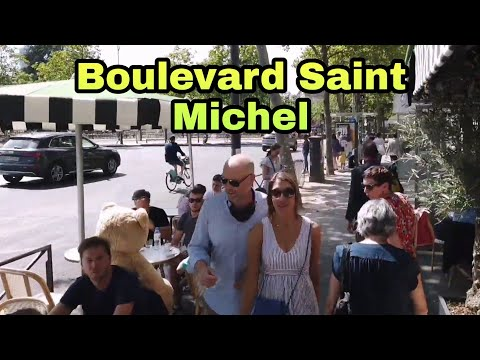 🇫🇷 Walking tour in Paris : Boulevard Saint Michel 🚶