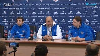 Черчесов не говорит о Денисове, Дзагоев хочет поиграть за границей. Пресс-конференция перед Испанией