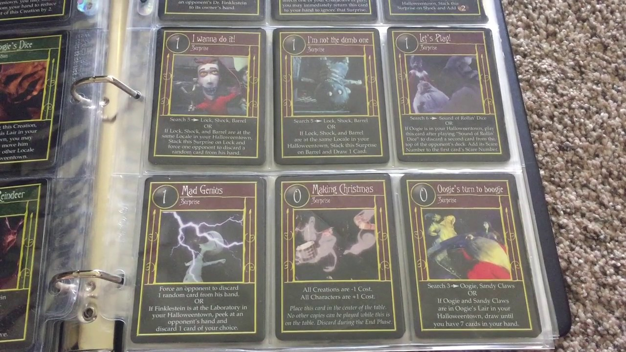 the nightmare before christmas tcg near complete set - Christmas Card Games
