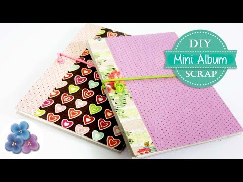Como hacer un mini album scrapbook tutorial diy facil - Como hacer un album scrapbook ...